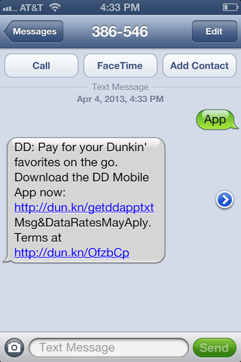 Dunkin-Donuts-Text-Message