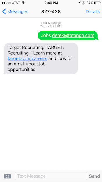 Target-Recruitment-Text-Message-Example